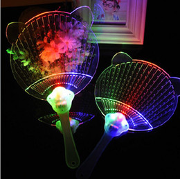 Wholesale Novelty Gifts Toys Glow - LED Light Fans Glowing Hand Fan Luminous Children Gifts Toy Novelty
