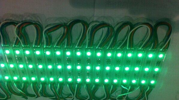 Retroilluminazione Moduli Led cartelloni Moduli LED segnalazioni Luce di Natale 5050 3 LED Verde / Rosso / Blu / Caldo / Bianco Impermeabile DC 12V By DHL