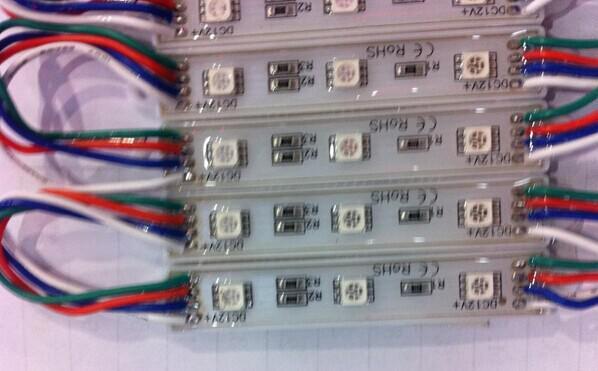 Billboard LED işareti modülleri için 1000X arka LED Modül modülü lamba ışığı 5050 SMD 3 LED RGB / Yeşil / Kırmızı / Mavi / Sıcak / Beyaz Su Geçirmez DC 12V DHL Tarafından