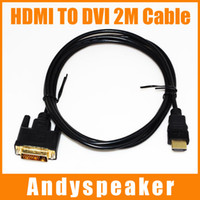 Wholesale Hdmi Cord Adapter - Adapter 2M = 6ft Video AV Adapter HDMI Cable to DVI Converter Male Cable For HDTV Set-Top Cord HDMI TO DVI Cable 2pcs UP