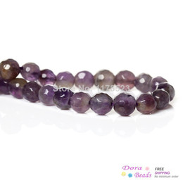 Wholesale Amethyst Grading - (Grade A) Natural Amethyst Gem stone Loose Beads Round Purple About 6mm Dia,36.6cm long,1 Strand(approx 63PCs) (B34118)