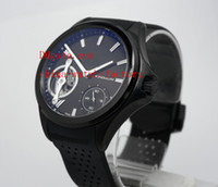 Wholesale Dlc Pvd - Luxury AAA Top Quality Wristwatch Black Dlc Pvd TAG Tourbillon Rubber Bands Automatic Mens Watch Men's Watches
