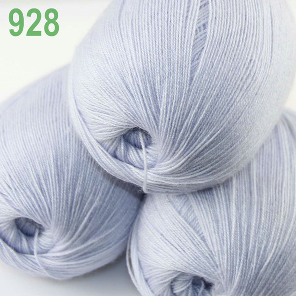 top popular Lot 3 Skeins LACE Soft Acrylic Wool 5% Cashmere Yarn Knitting Light Silve 928 2021