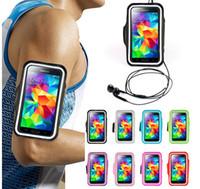 ingrosso borsa del braccio per il iphone-Fascia da braccio impermeabile Sport Gym Running Armband Protector Custodia morbida Custodia Cover per iphone 4 5 6 4.7