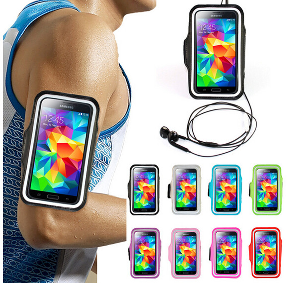 "WaterProof arm band Sport Gym Running Armband Protector Soft pouch Case Cover For iphone 4 5 6 4.7"" 6 plus 5.5"" Samsung Galaxy note 3 S3 4 5"