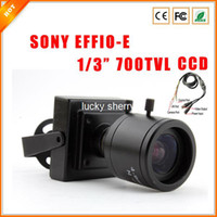"Wholesale Effio P Mini - 1 3"" 4-9 mm Varifocal Lens F1.6 SONY EFFIO-E CCD 700TVL HD Indoor Mini CCTV Security Camera with OSD Menu"