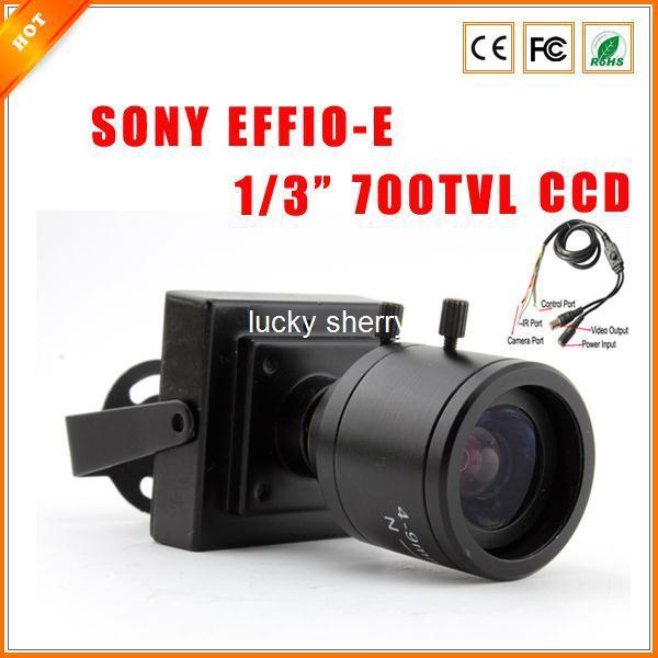 "1/3"" 4-9 mm Varifocal Lens F1.6 SONY EFFIO-E CCD 700TVL HD Indoor Mini CCTV Security Camera with OSD Menu"