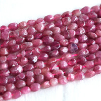 "Wholesale Quality Cross Bracelet - Discount Wholesale High Quality Natural Genuine Pink Tourmaline Nugget Loose Beads Free Form 3-4mm Fit Jewelry Necklace Bracelets 16"" 03683"