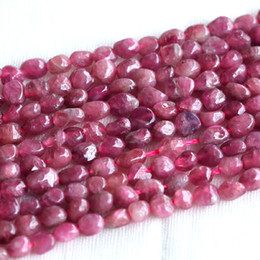 """Wholesale Loose Tourmaline - Discount Wholesale High Quality Natural Genuine Pink Tourmaline Nugget Loose Beads Free Form 3-4mm Fit Jewelry Necklace Bracelets 16"""" 03683"""