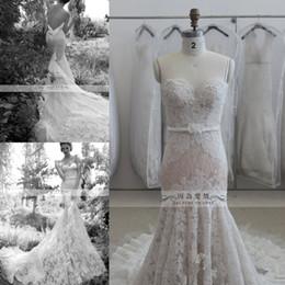 Wholesale Inbal Dror Backless Wedding Dresses - Mermaid wedding dresses 2015 Lace Sweetheart Long Train Spaghetti Straps inbal dror Vestidos de Novia Bridal Gowns SK22