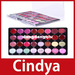 Paletas de color de labios online-Venta al por mayor-cindya Pro Mini 32 Color Cosmetic Lip Pintalabios Brillo Maquillaje Paleta Set kit Ahorre hasta 50%