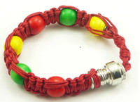Wholesale Wholesale Rasta Beads - sneak a toke bracelet bead pipe smoking pipe click n vape rasta dry herb ecigar tobacco