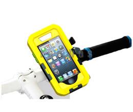 Housse de vélo iphone en Ligne-Support de montage de guidon de moto de vélo + Etui étanche pour téléphone mobile Cover 5 in 1 pour iphone 5 5S