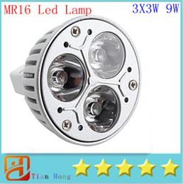 Wholesale Mr16 Cree 3x3w 9w Led - MR16 3X3W 9W Dimmable Spotlight Led Lamp AC DC 12V Energy Saving Lighting Downlight free shipping