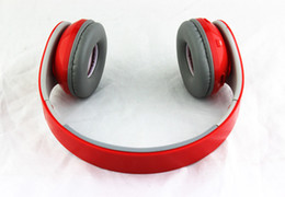 Wholesale foldable headphones - New bluetooth headphone wireless Foldable Bluetooth Headset with Factory Sealed Retail Box Black White Red AAA Quality EMS DHL from dealtime