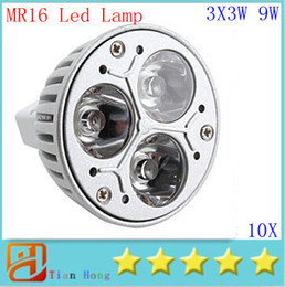 Wholesale cree mr16 3x3w - 10pcs lot MR16 3X3W 9W Dimmable Spotlight Led Lamp AC DC 12V Energy Saving Lighting Downlight free shipping