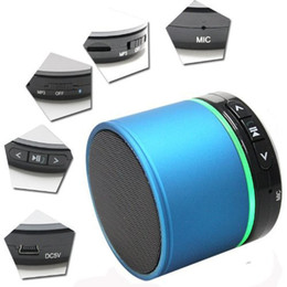 Wholesale Bluetooth S11 - S11 Mini speaker Wireless Bluetooth 4.0 HIFI portable speakers sound box Strong bass subwoofer Support TF Card For cellPhone led