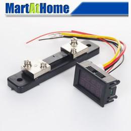 """Wholesale Dual Resistor - Free Shipping DC 0-100V 50A 0.28"""" Dual LED Digital Voltmeter Ammeter + 50A 75mV DC Current Shunt Resistor #BV261 @CF"""