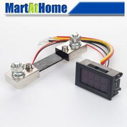 "Wholesale Digital Dc Voltmeter Ammeter - Free Shipping 0-100V DC 100A 0.28""Dual LED Digital Voltmeter Ammeter + 100A 75mV DC Shunt Resistor #BV262 @CF"