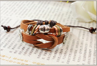 palace strand - Europe and America Beads Palace Vintage Bracelet Medieval Leather bracelet trinkets