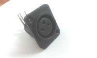 zócalo del panel xlr al por mayor-Adaptador hembra del conector del zócalo del chasis del soporte del panel de XLR 3pin