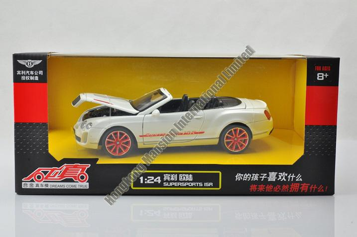 2019 1:24 Scale Alloy Diecast Car Model Forbentley Continental Supersports  ISR Collection Model Car Toys With Sound&Light Cabriolet From Chansiubill,