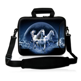 "Wholesale Pocket Hp - Wholesale-Free shipping17"" 17.3"" Horse Neoprene Laptop Carrying Bag Sleeve Case Cover Holder w  Side Pocket +Shoulder Strap For HP DELL"