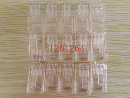 Wholesale Rj45 Modular Connectors - Wholesale! Free shipping RJ45 RJ-45 CAT5 Cat5e Cat6 Cable Modular Plug Network cable Connector,100pcs lot