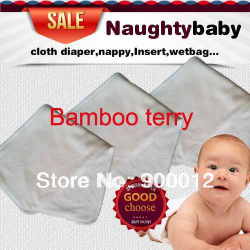 top popular Free Shipping Natural Fiber Bamboo Terry Absorption Bamboo Terry (4 layers) 36*14cm Cloth Diapers Pads Inserts nappy 200 pcs 2020