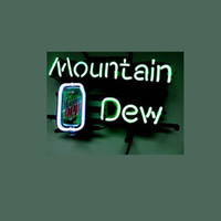 Wholesale Mountain Dew Neon Sign - New MOUNTAIN DEW SODA BEER BAR NEON LIGHT SIGN handicrafted real glass tube Neon Light Beer Lager Bar Pub Sign Multiple Size 20*15
