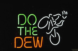 Wholesale Mountain Dew Neon Sign - NEW DO THE DEW Mountain BIKE LOGO handicrafted real glass tube Neon Light Beer Lager Bar Pub Sign Multiple Size 20*15