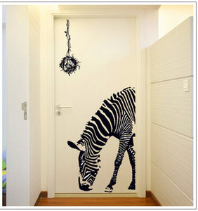 Wholesale New Hot Large Zebra Wall Sticker cm High Quality Transparent PVC Material Decal Waterproof Removable Wall Paper DIY Fun Wall Poster