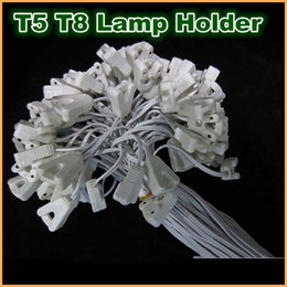 Wholesale Lamp Socket T5 - T8 T5 Tube Lamp Holder Socket Fittings with Cables lightbox lamp line cables lamp holder horn line crural line