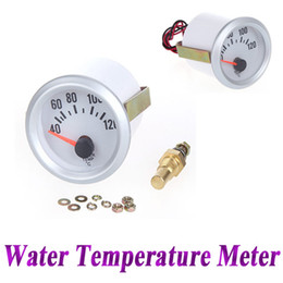 "Wholesale Temperature Sensor For Cars - 12V Car Water Temperature Meter Gauge with Sensor for Auto Car 2"" 52mm 40~120Celsius Degree Blue LED Light K1070"