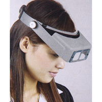 Wholesale Double Magnifying Glass - Double Lens Head-mounted Headband Reading Magnifier Magnifying Glass Loupe Head Wearing 4 Magnifications H10199