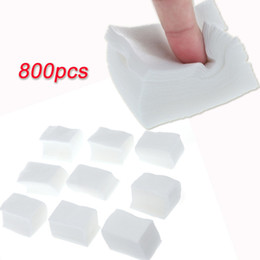 Wholesale Nail Remover Wipes - 800pcs 100% Cotton Manicure Polish Remover Clean Wipes Pads Paper Nail Art Tips H10666