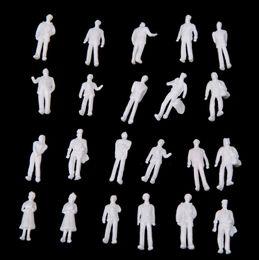 Wholesale Ho Scale Model Figures - 100pcs HO Scale 1:100 White Model People Unpainted Train Figures T191