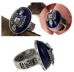 Wholesale Vintage Vampire - Hot Selling The Vampire Diaries Damon Punk Vintage Finger Ring 18.5mm Unisex Rings Jewelry [JR14122*2]