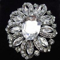 Wholesale Hot Asian Ladies - Hot Selling Fashion Style Big Glass Crystals Flower Women Brooch Cheap Wholesale Stunning Diamante Lady Costume Pin