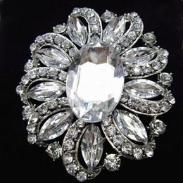 $enCountryForm.capitalKeyWord Canada - Hot Selling Fashion Style Big Glass Crystals Flower Women Brooch Cheap Wholesale Stunning Diamante Lady Costume Pin