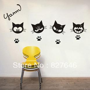 Cat Footprint Wall Sticker Kid Room Decor Mural Art Vinyl