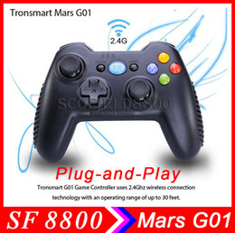 Wholesale Tablet Cell Phone Tv - Tronsmart Mars G01 2.4G Wireless Gamepad Support Controller Android Cell Phone PS3 Tablet PC MINI PC Android tv box
