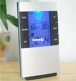 Medidor digital digital de temperatura y humedad con pantalla LCD. Con termómetro de alarma, higrómetro y termómetro. en venta