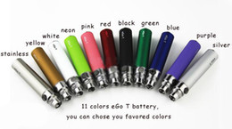 Wholesale Ego T Design Batteries - Wholesales - Hoot!! 11colors OEM design eGo T Battery e cigarette colorful 650mah 900mah 1100mah Electronic Cigarettes Battery