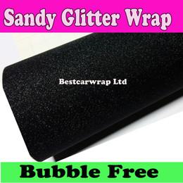 Free Fedex shipping online shopping - 3m quality Black Sandy Glitter Vinyl Car wrap sparkle Film With Air Free Fedex x30m Roll