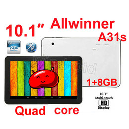 Wholesale A31s Free Shipping - 10.1 10 Inch A31s Allwinner Quad Core 1.5GHz Android 4.4 Kitkat MID Tablet pc 1GB 8GB 1024*600 Dual Camera Wifi HDMI Bluetooth Free shipping