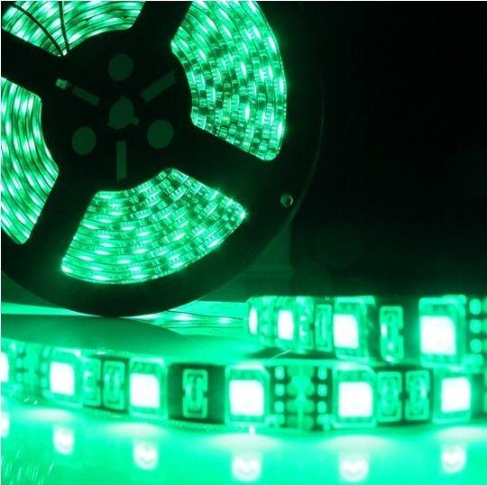 5M PCB Black 5050 Cool White 60 LED / M 500CM 300leds Striscia flessibile a led flessibile DC12V impermeabile