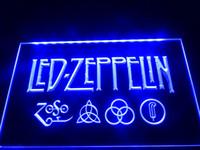 Wholesale Rock Roll Signed - LF002b- Led Zeppelin Rock n Roll Punk Neon Light Signs