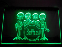 LF167-g O Sinal Beatles Faixa do cilindro Bar Neon Light Sign.LED Luz