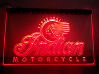 Wholesale Motorcycle Neon Signs - LG190-r Indian Motorcycle Services Logo Neon Light Sign.Led Light Sign